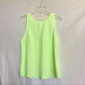 Ivivva; neon green meshback tank top